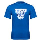Syntrel Performance Royal Tee-TWU w/ Bulldog Head