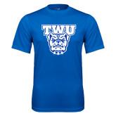 Performance Royal Tee-TWU w/ Bulldog Head