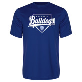 Syntrel Performance Royal Tee-Bulldogs Baseball Script w/ Plate