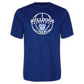 Syntrel Performance Royal Tee-Bulldogs Basketball Arched w/ Ball