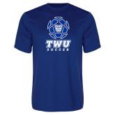 Syntrel Performance Royal Tee-TWU Soccer w/ Geometric Ball