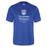 Performance Royal Tee-University Logo Stacked