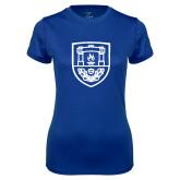 Ladies Syntrel Performance Royal Tee-University Crest