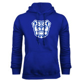 Royal Fleece Hoodie-Bulldog Head