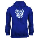 Royal Fleece Hoodie-Bulldog Head