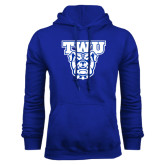 Royal Fleece Hoodie-TWU w/ Bulldog Head