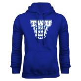Royal Fleece Hoodie-TWU w/ Bulldog Head