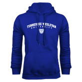 Royal Fleece Hoodie-Tennessee Wesleyan University Arched w/ Logo
