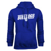 Royal Fleece Hoodie-Bulldogs Slanted