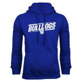 Royal Fleece Hoodie-Bulldogs Slanted