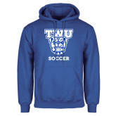 Royal Fleece Hood-Soccer