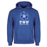 Royal Fleece Hoodie-TWU Soccer w/ Geometric Ball