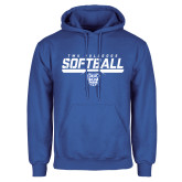 Royal Fleece Hoodie-TWU Bulldogs Softball Stencil