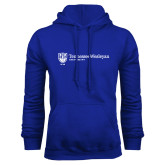 Royal Fleece Hoodie-University Logo Horizontal Left