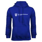 Royal Fleece Hoodie-University Logo Horizontal Left