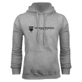 Grey Fleece Hoodie-University Logo Horizontal