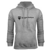 Grey Fleece Hoodie-University Logo Horizontal Left