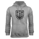 Grey Fleece Hoodie-University Crest