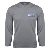 Performance Steel Longsleeve Shirt-TWU Bulldogs Stacked w/ Bulldog