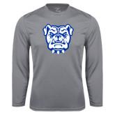 Syntrel Performance Steel Longsleeve Shirt-Bulldog Head