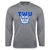 Performance Steel Longsleeve Shirt-TWU w/ Bulldog Head