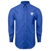 Mens Royal Oxford Long Sleeve Shirt-TWU w/ Bulldog Head