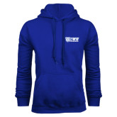 Royal Fleece Hoodie-TWU Bulldogs Stacked w/ Bulldog