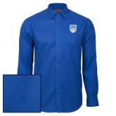 Red House Royal Diamond Dobby Long Sleeve Shirt-University Crest