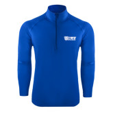 Sport Wick Stretch Royal 1/2 Zip Pullover-TWU Bulldogs Stacked w/ Bulldog
