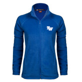 Ladies Fleece Full Zip Royal Jacket-TW