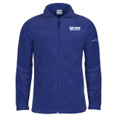 Columbia Full Zip Royal Fleece Jacket-TWU Bulldogs Stacked w/ Bulldog
