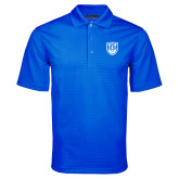 Royal Mini Stripe Polo-University Crest
