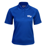 Ladies Royal Textured Saddle Shoulder Polo-Official Logo