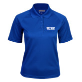 Ladies Royal Textured Saddle Shoulder Polo-TWU Bulldogs Stacked w/ Bulldog