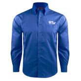 Red House French Blue Dobby Non Iron Long Sleeve Shirt-Official Logo