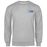 Grey Fleece Crew-TWU Bulldogs Stacked w/ Bulldog