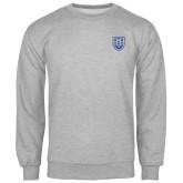 Grey Fleece Crew-University Crest