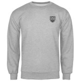 Grey Fleece Crew-University Crest
