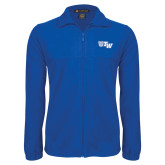 Fleece Full Zip Royal Jacket-Official Logo
