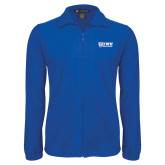 Fleece Full Zip Royal Jacket-TWU Bulldogs Stacked w/ Bulldog
