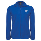 Fleece Full Zip Royal Jacket-TWU w/ Bulldog Head