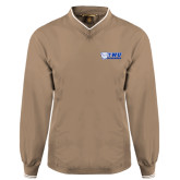 Khaki Executive Windshirt-TWU Bulldogs Stacked w/ Bulldog