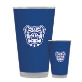 Full Color Glass 17oz-Bulldog Head