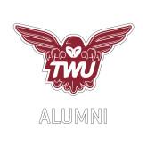 Alumni Decal-Alumni Owl TWU