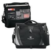 Slope Black/Grey Compu Messenger Bag-Institutional Logo