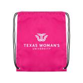 Pink Drawstring Backpack-Institutional Logo