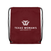 Maroon Drawstring Backpack-Institutional Logo