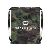 Camo Drawstring Backpack-Institutional Logo