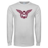 White Long Sleeve T Shirt-Owl TWU