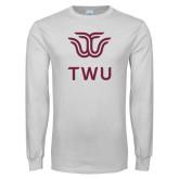 White Long Sleeve T Shirt-Institutional TWU